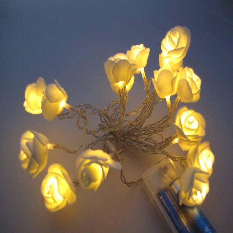 Batterie Lichterkette, Blütendekoration, LED, warmes Licht, ...