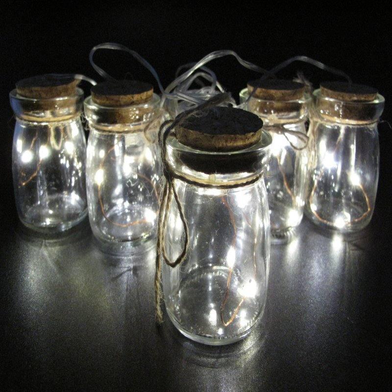 led batterie weckglas lichterkette 6x7 cm 5 gl ser 15 warmweisse led einmachgl ser. Black Bedroom Furniture Sets. Home Design Ideas