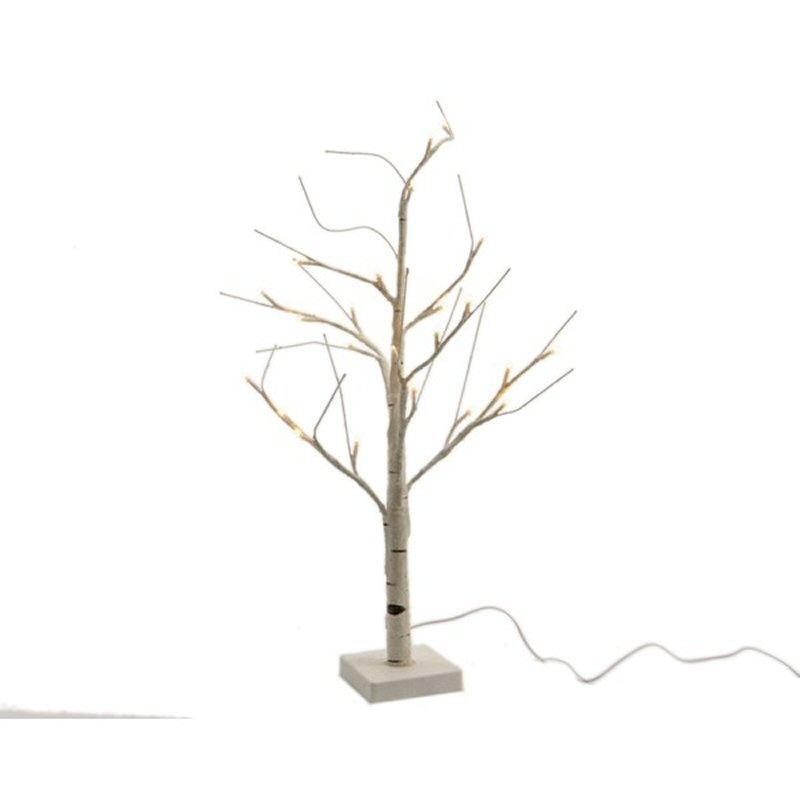 LED Birkenstamm 180 Cm Mit 96 Warmweissen LED   Aussendekoration