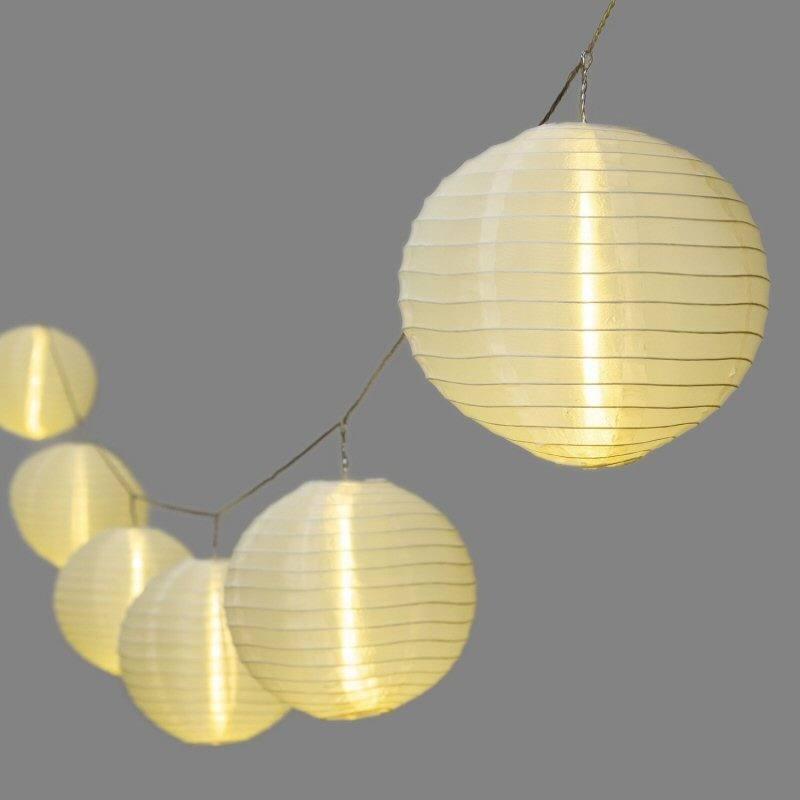 lampion lichterketten mit 20 cm lampions und 30 led. Black Bedroom Furniture Sets. Home Design Ideas