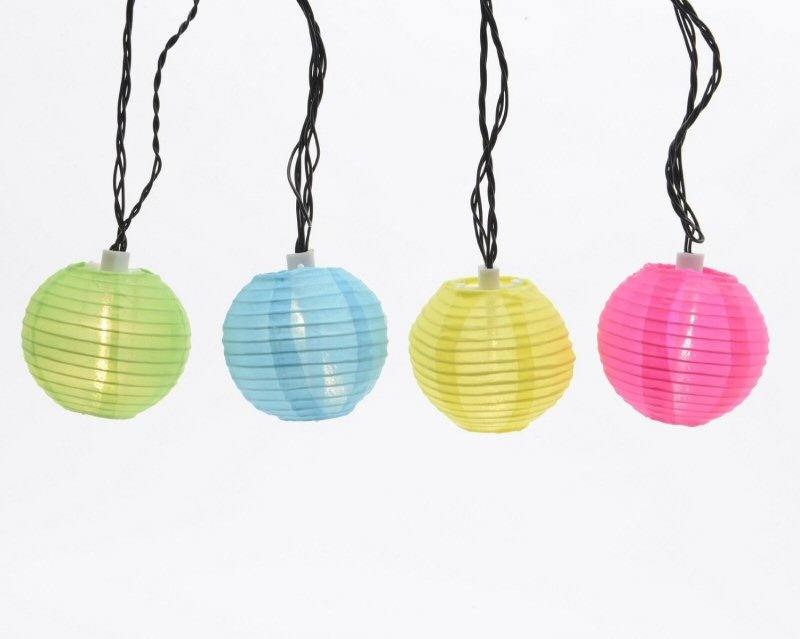 LED Lichterkette 20 LED Bunte Laternen Lampions 20