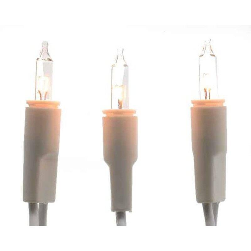 Mini LED Lichterkette 20 warmweiss mit weisser Ringleitung