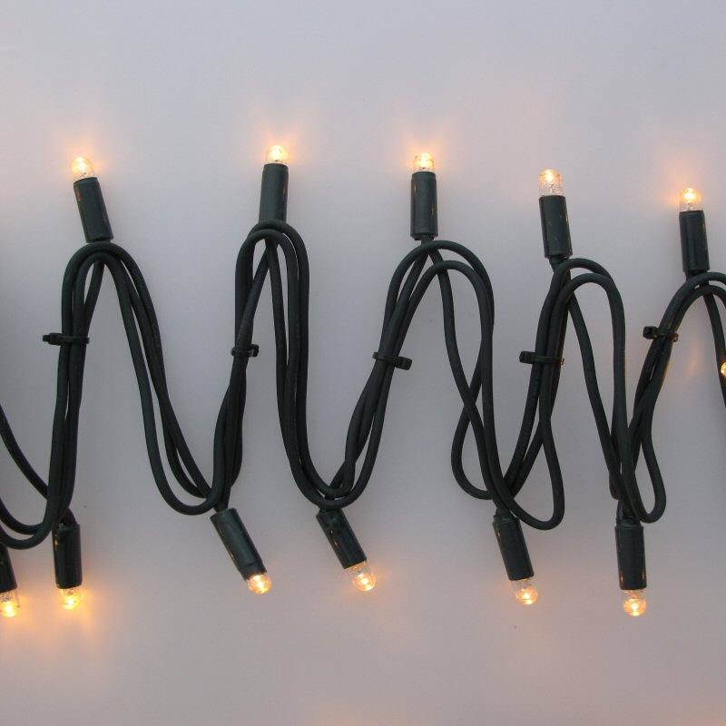 Led Profi Lichterkette 230 V 10 M 100 Warmweisse Led Koppelbar