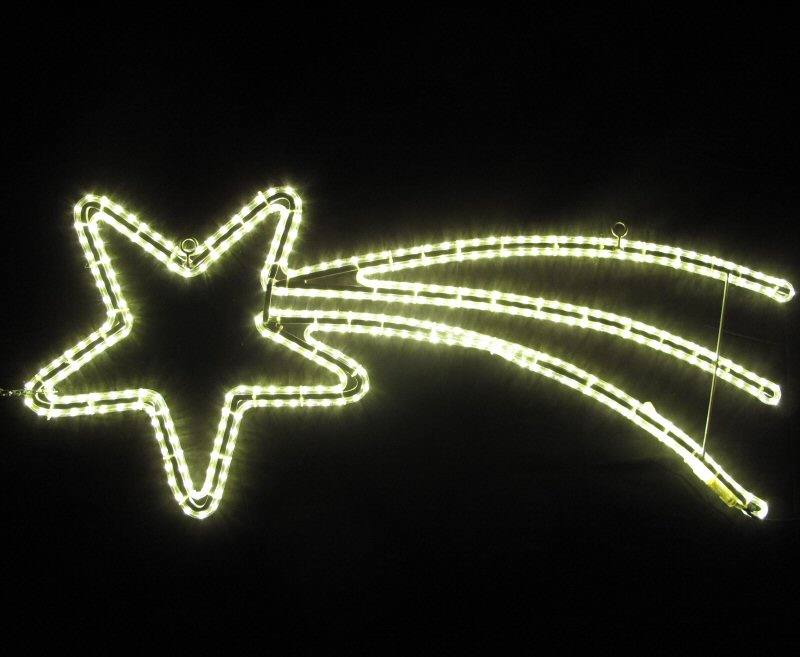 LED Komet Lichtschweif 140 cm - 230 Volt - Warmes LED Licht