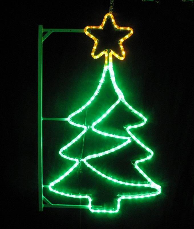 Weihnachtsbeleuchtung Aussen Motive.Led Weihnachtsbaum Mit Led Lichtschlauch Beleuchteter Stern Ca