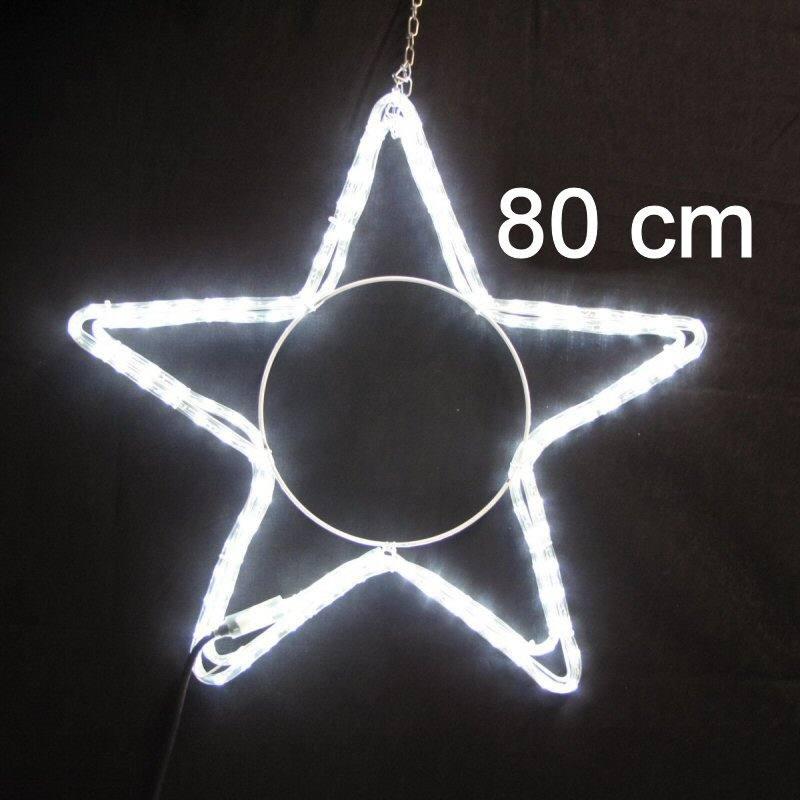led weihnachtsstern 80 cm 230 volt weisses led licht. Black Bedroom Furniture Sets. Home Design Ideas
