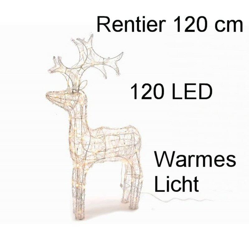 entier Acryl 120 cm 120 LED warmes Licht Aussen Weihnachten Dekoration