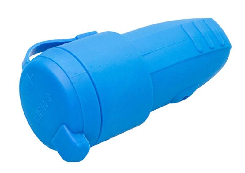 IP44 Schuko Kupplung aus Gummi für Kabelquerschnitte bis 2,5 mm²