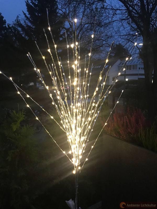 Außergewöhnliche Weihnachtsbeleuchtung.Led Lichtzweige 180 Cm 288 Warm Weisse Led Einige Flash Led Silberne Zweige 24 V Trafo Aussenbeleuchtung