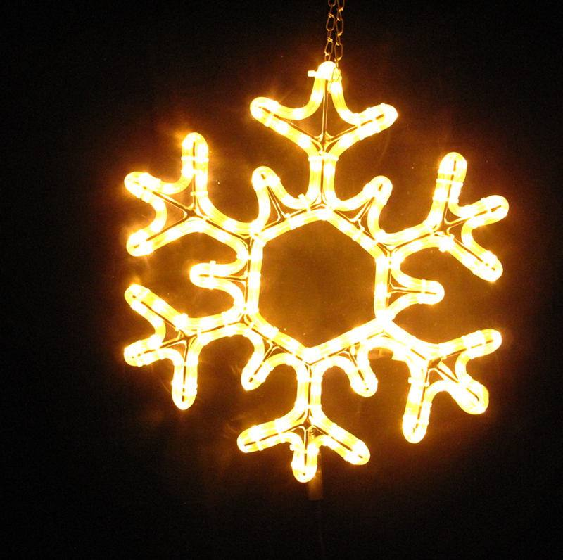 LED Schneeflocke Eiskristall Eisflocke 50cm warmes LED