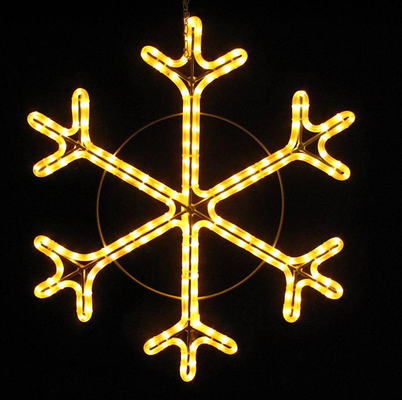 Schneeflocke 70 cm mit warmweissem LED Lichtschlauch