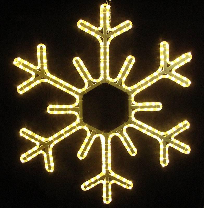 Schneeflocke 95 cm mit warmweissem LED Lichtschlauch