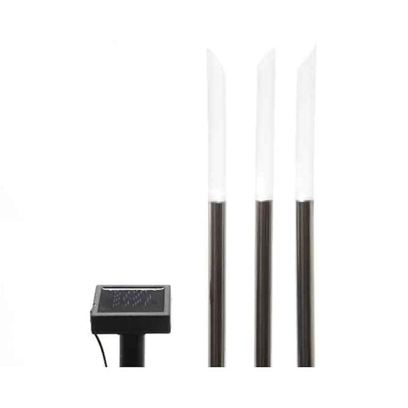 Sehr LED Solar Gartenlicht Gartenleuchte 3er Set 80 cm mit Solarpanel QC04